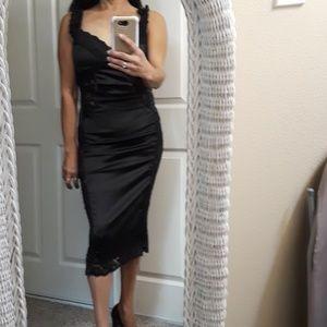 Rare Vintage Ya Black Bombshell Dress